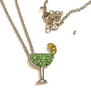 Cocktail Necklace Green crystal